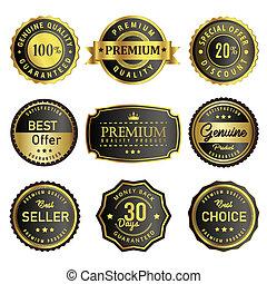 Set premium quality label