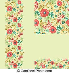 set, primavera, sfondi, seamless, modello, profili di fodera, fiori