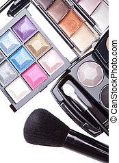 set, prodotti, cosmetico, trucco