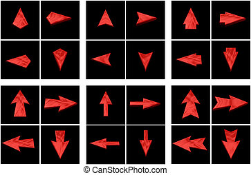 Set red arrows in all directions