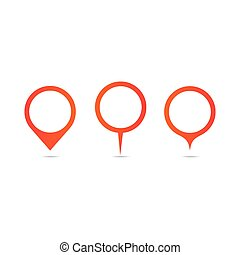 set red location icon on white background.