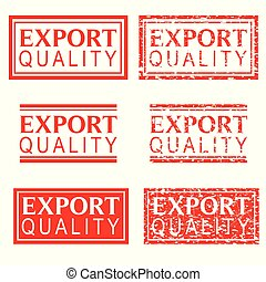 set red rubber stamp effect, export quality - vector red...