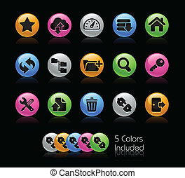 set, reeks, -, hosting, gelcolor, pictogram