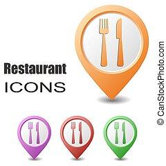 set restaurant map pointers