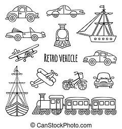 Set retro vehicle