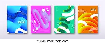 set, sagoma, colorito, astratto, fondo, 3d