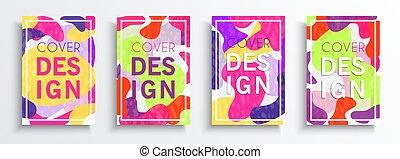 set, sagoma, colorito, disegno astratto, fondo