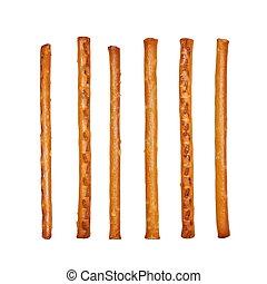 salty cracker pretzel sticks - set salty cracker pretzel...
