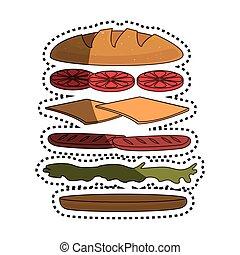 set Sandwich ingredients icon