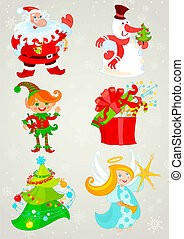 Set, santa claus and Friends