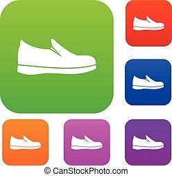 set, scarpe, collezione
