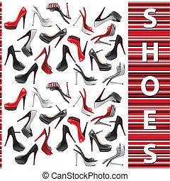 set, scarpe, femmina