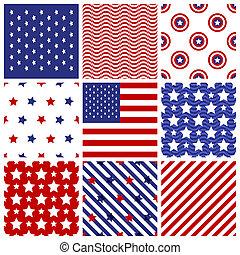 set, seamless, amerikaan, colors.