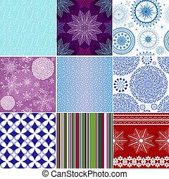 Set seamless christmas patterns