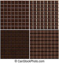 set, seamless, fondo, cioccolato