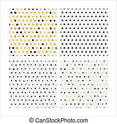 Set seamless pattern vector image