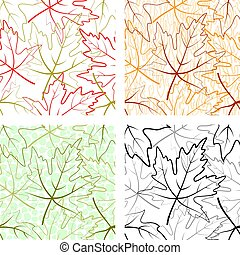 Seamless Patterns, Maple Leaves