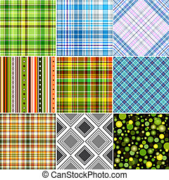Set seamless patterns