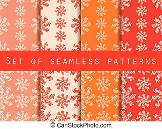 Set seamless patterns. Vector