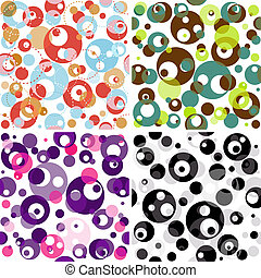 Set seamless translucent patterns