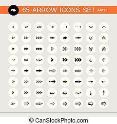 set., segno, 1, parte, 65, icona freccia