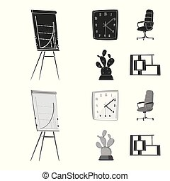 set, segno., lavoro, web., illustrazione, vettore, casa, mobilia, simbolo, casato