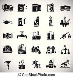 set, semplice, moderno, disegno, trendy, disegno, web, concept., bottone, internet, bianco, simbolo, sito web, olio, segno., fondo, icona, grafico, mobile, industria, app., vettore, o