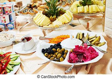 set, service., cibo, ristorazione, tavola, colazione