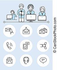 set, servizio, sostegno, vettore, femmina, maschio, lavorante