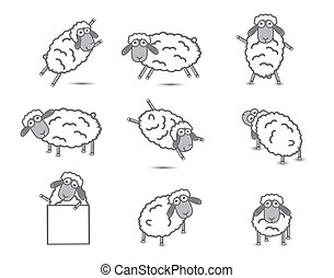 Set Sheep Vector