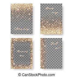 Set shine transparent background - Set of backgrounds with...