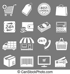 Set, shoppen, iconen