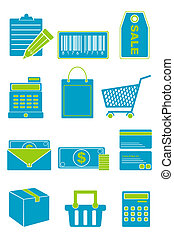 set, shoppen , pictogram