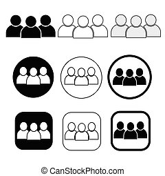 Set sign of People icon