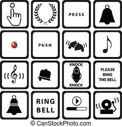 Set signs for doorbells