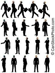 set, silhouette, affari