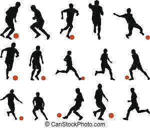 set, silhouette, (soccer), football