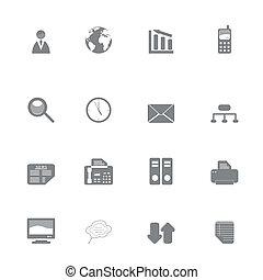 set, silhouette, zakelijk, pictogram