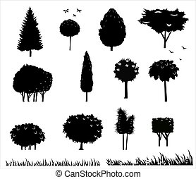 Set silhouettes of trees 2