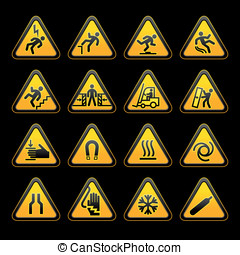 Set simple triangular warning symbols Hazard Signs(10).jpg