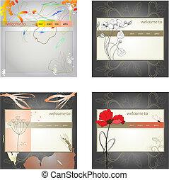 set, sito web, sagoma, disegno