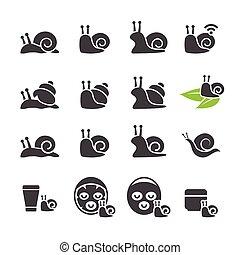 set, slak, pictogram