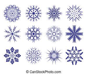 set, snowflakes