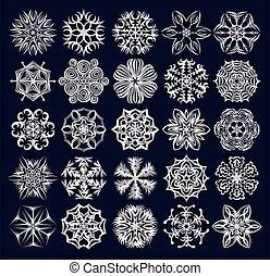 set, snowflakes.