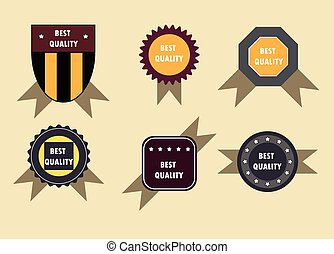 Set soccer football emblems , vector