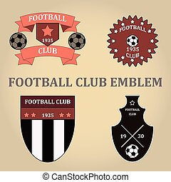 Set soccer football emblems , vector.