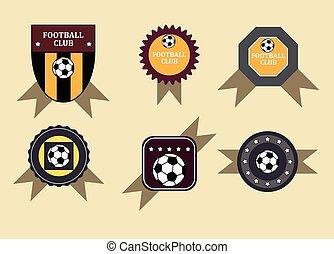Set soccer football emblems , vector.