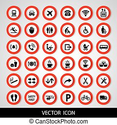 Set social icons on a white background. Vector illustration.
