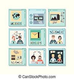 set social media icons