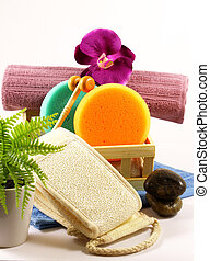 Set spa and shower objects